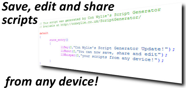 Script Generator Save Update